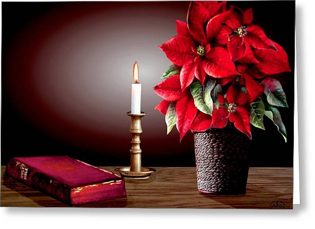 Candle Lit Paintings Greeting Cards - Light of the World Greeting Card by Ronald Chambers