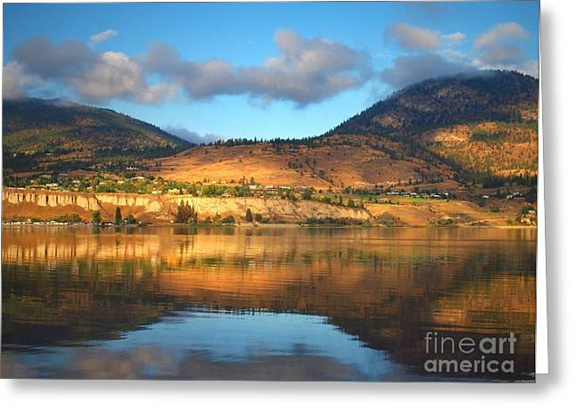 Penticton Greeting Cards - Light on the Banks Greeting Card by Tara Turner