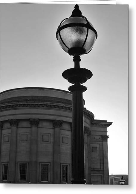 Soft Light Greeting Cards - Light on the city in black and white Greeting Card by Nomad Art And  Design