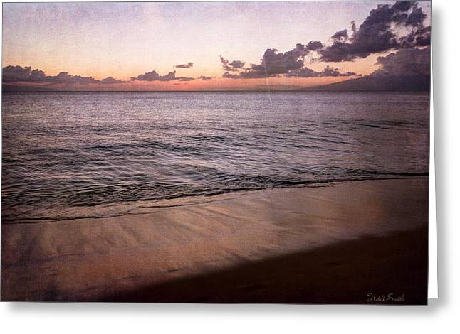 Ocean Art Photography Greeting Cards - Light On The Horizon Greeting Card by Heidi Smith