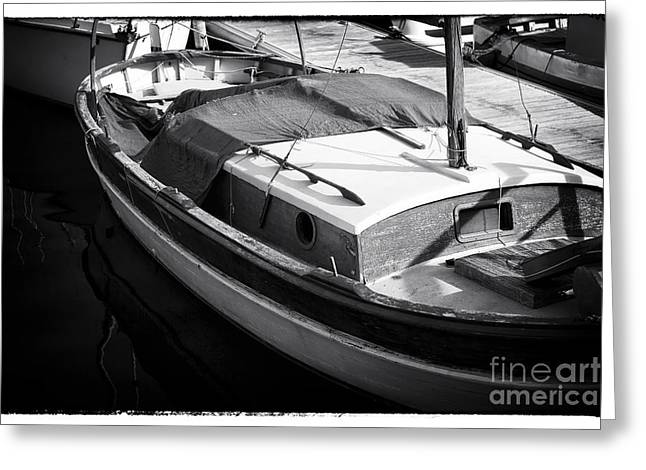 Sailboat Photos Greeting Cards - Light on the Sailboat Greeting Card by John Rizzuto