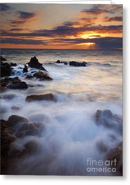 ; Maui Greeting Cards - Light over Lanai Greeting Card by Mike  Dawson