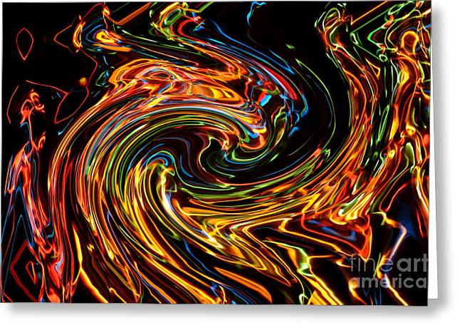 Hallucination Greeting Cards - Light painting 2 Greeting Card by Delphimages Photo Creations