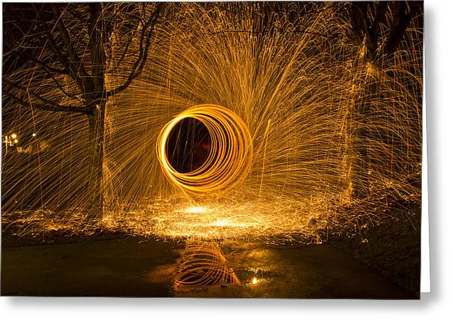 Experiment Greeting Cards - Light Painting Greeting Card by Inge Riis McDonald