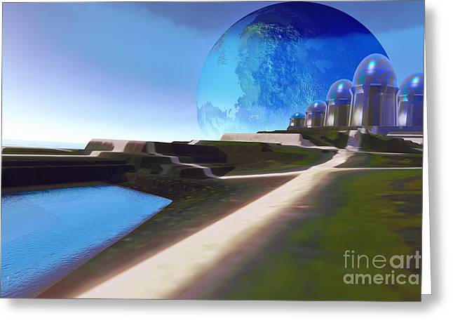 Port Town Digital Art Greeting Cards - Light Path Greeting Card by Corey Ford