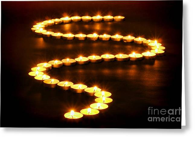 Light Path Greeting Card by Olivier Le Queinec