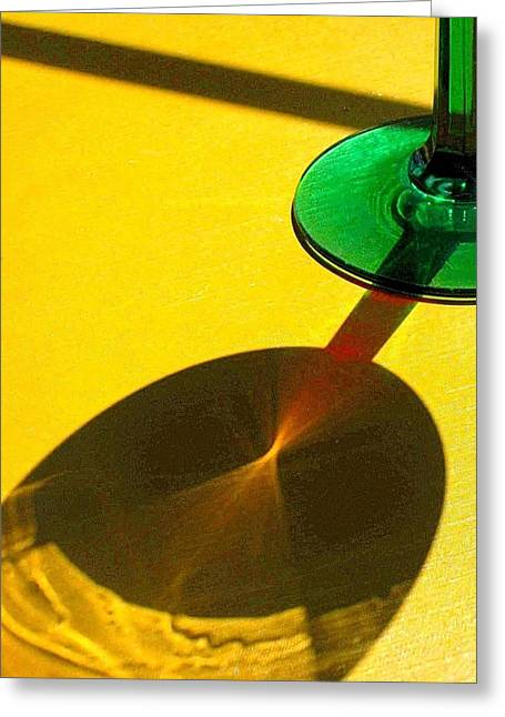 Wine Reflection Art Greeting Cards - Light Play Greeting Card by Carolyn Jacob