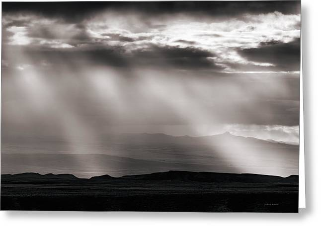 Light Rays And Rain Greeting Card by Leland D Howard
