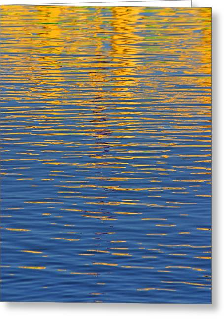 Reflection On Water Greeting Cards - Light Reflections on the Water Greeting Card by Randall Nyhof