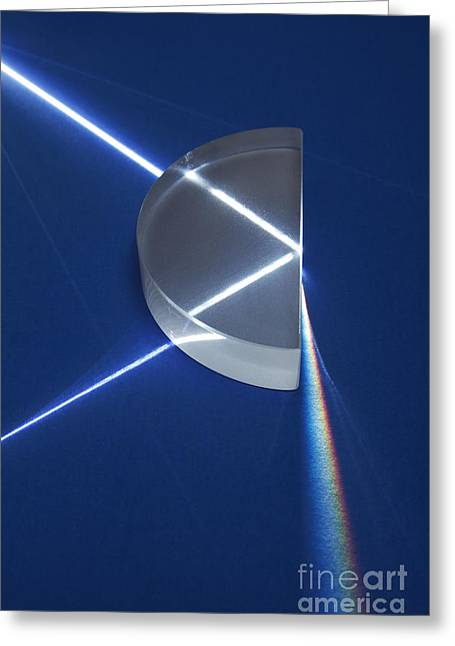 Geometric Effect Greeting Cards - Light Refraction Greeting Card by GIPhotoStock