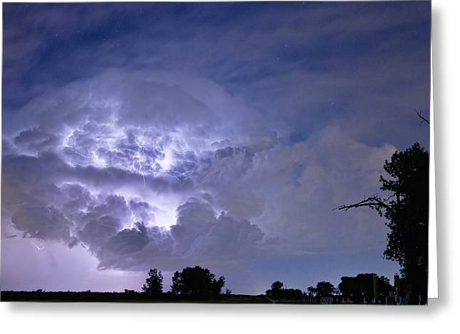 Storm Prints Photographs Greeting Cards - Light Show Greeting Card by James BO  Insogna