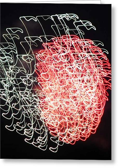 Rockets Red Glare Greeting Cards - Light Show Greeting Card by Rebecca Jayne