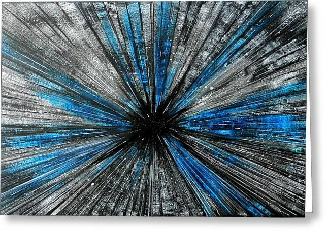 Warp Paintings Greeting Cards - Light Speed Greeting Card by John Henne