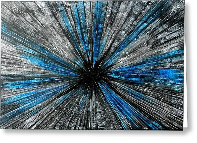 Warp Speed Greeting Cards - Light Speed Greeting Card by John Henne