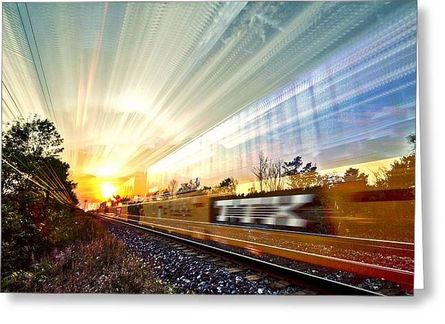 Warp Greeting Cards - Light Speed Greeting Card by Matt Molloy