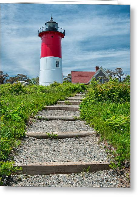 Nauset Beach Greeting Cards - Light Steps Greeting Card by Michael Blanchette