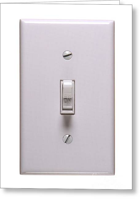 Switches Greeting Cards - Light Switch ON Greeting Card by Olivier Le Queinec