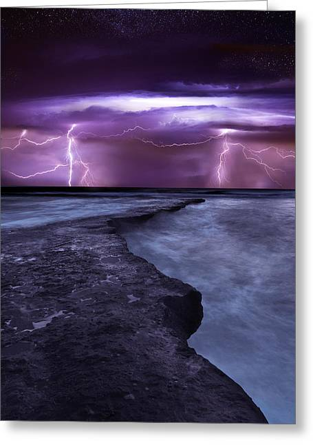 Thunderstorm Greeting Cards - Light symphony Greeting Card by Jorge Maia