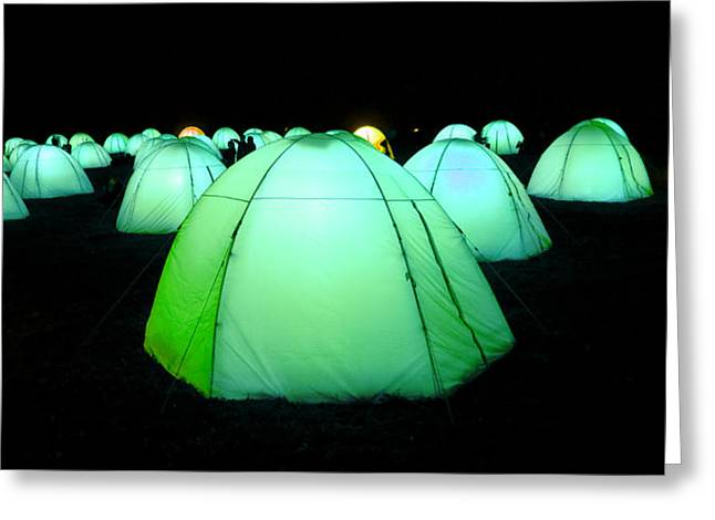 Installation Art Greeting Cards - Light Tents Variation Seven Greeting Card by Mick House
