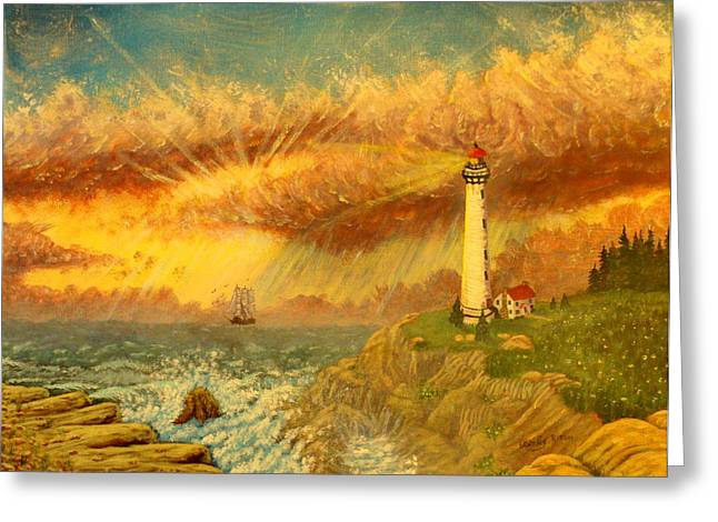 Light That Guides Thee  Greeting Card by David Bentley
