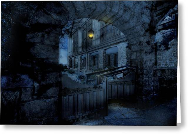 Entranceway Greeting Cards - Light the Way Greeting Card by Shelley Neff