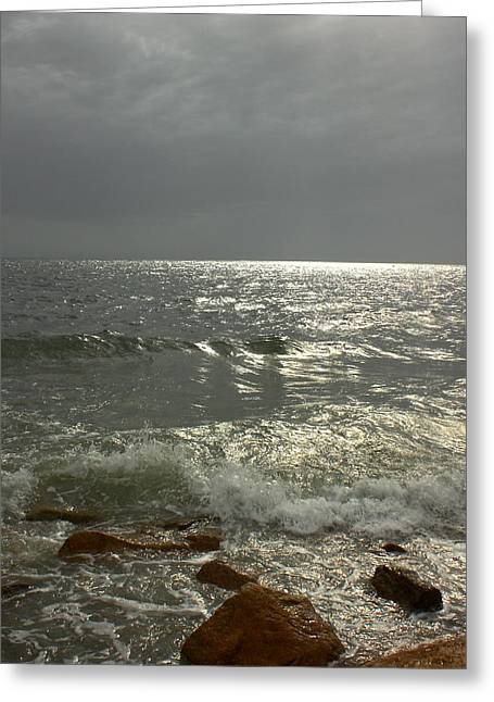 Storm Clouds Cape Cod Greeting Cards - Light Through the Storm Greeting Card by Amazing Jules