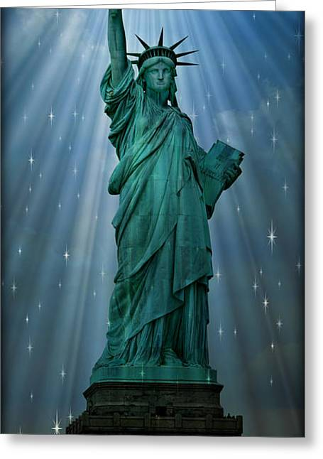 Historic Statue Greeting Cards - Light to the Nations Greeting Card by Stephen Stookey