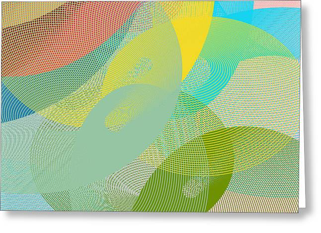 Soft Tones Greeting Cards - Light toned umbrellas Greeting Card by Gaspar Avila