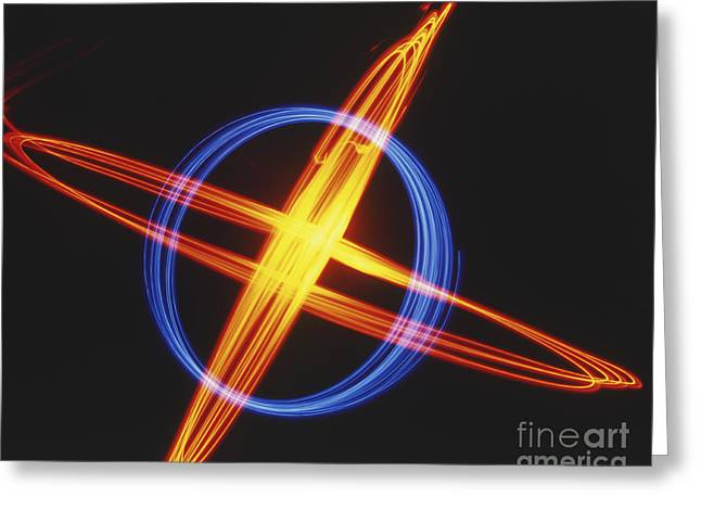 Abstract Movement Greeting Cards - Light Trails Greeting Card by Dave King / Dorling Kindersley