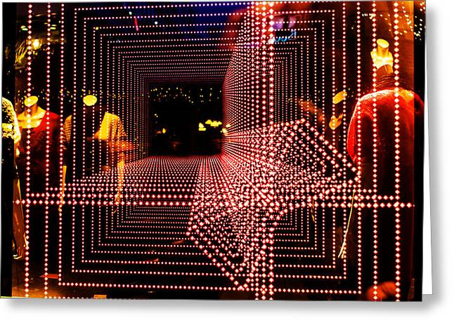 Poster Art Greeting Cards - Light tunnel Greeting Card by Jb Atelier