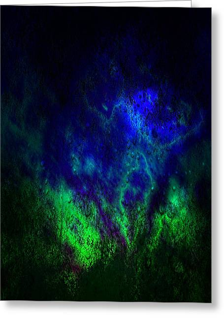 Lightning Gifts Mixed Media Greeting Cards - Light up the forest Greeting Card by M and L Creations
