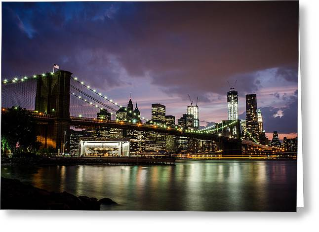 Dumbo Greeting Cards - Light Up The Night Greeting Card by Johnny Lam