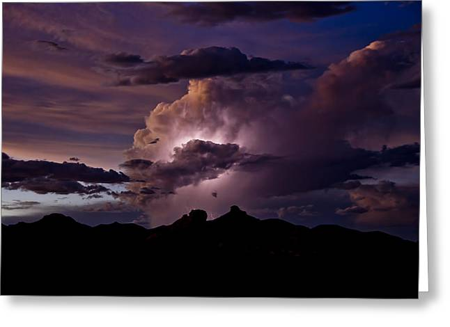 Arizona Lightning Greeting Cards - Light Up the Skies  Greeting Card by Saija  Lehtonen