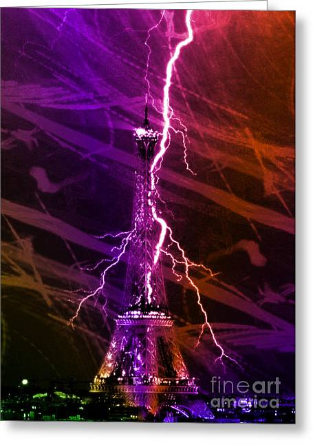 Storm Prints Digital Art Greeting Cards - Light Up the Tower Greeting Card by M and L Creations