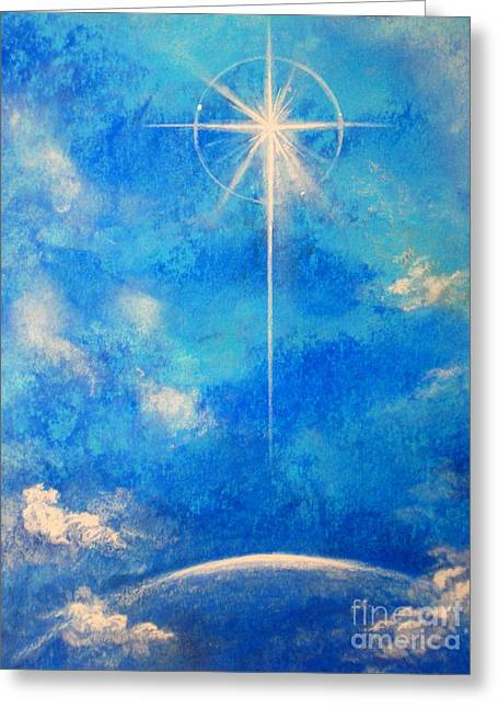 Faa Exclusive Greeting Cards - Light Upon Earth Greeting Card by Shasta Eone