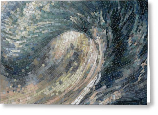 Mosaic Greeting Cards - Light Wave  Greeting Card by Mia Tavonatti