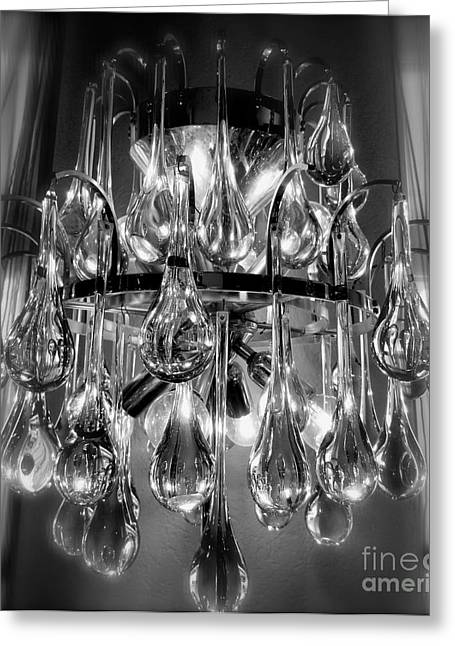 Sepia Chandeliers Greeting Cards - Light Music Greeting Card by Lynn R Morris