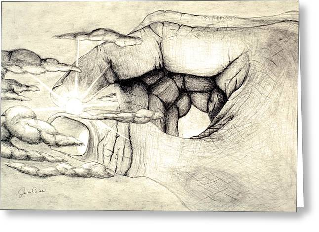 Spiritual Drawings Greeting Cards - Light Within Greeting Card by Jaison Cianelli