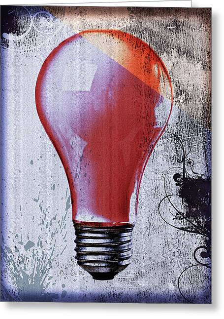 Book Cover Art Greeting Cards - Lightbulb Greeting Card by Bob Orsillo