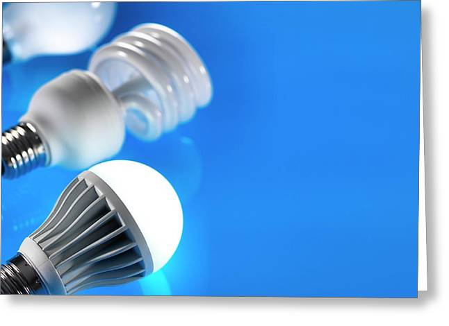 Lightbulbs Greeting Card by Tek Image