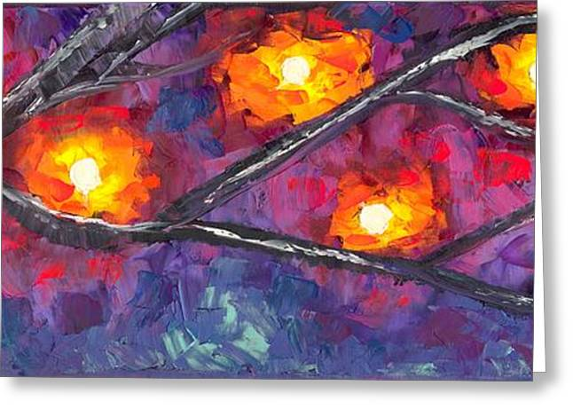 Jessilyn Park Greeting Cards - Lighted Branches 1 of 2 Greeting Card by Jessilyn Park