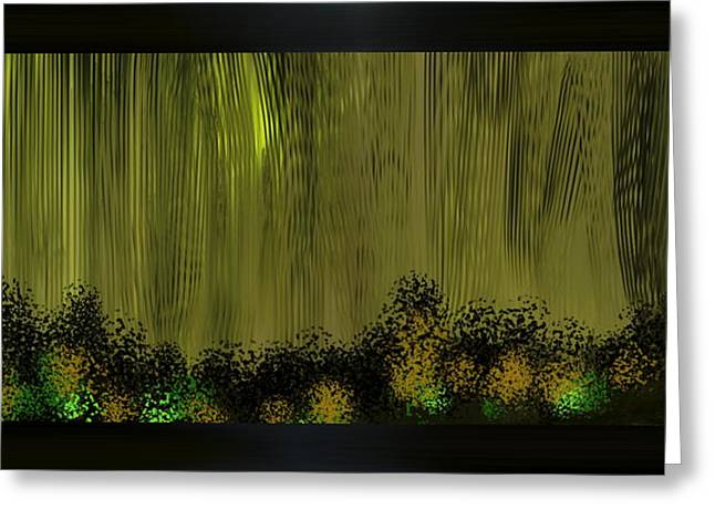 Bamboo House Mixed Media Greeting Cards - Lighted Path Greeting Card by Len YewHeng
