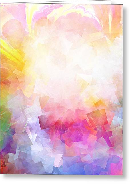Meditative Greeting Cards - Lightforces Artwork Greeting Card by Lutz Baar