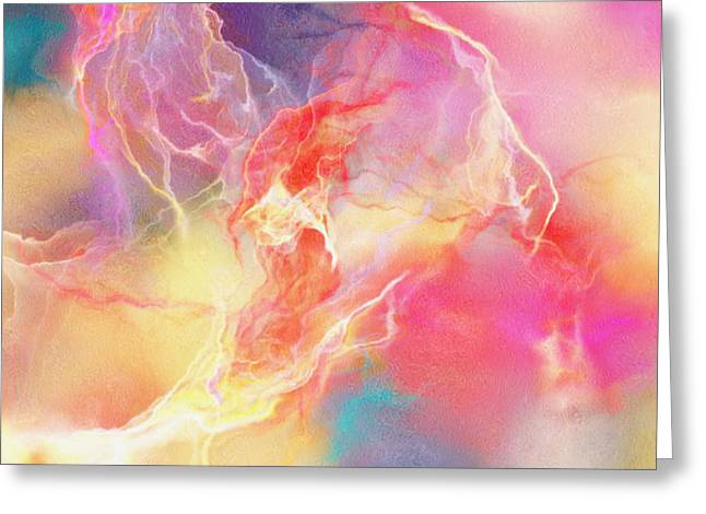 Print On Canvas Greeting Cards - Lighthearted - Abstract Art Greeting Card by Jaison Cianelli