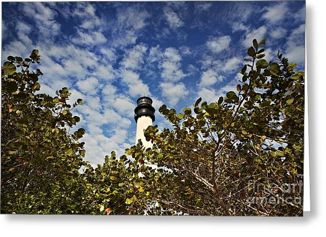 Bill Baggs Greeting Cards - Lighthouse at Bill Baggs Florida State Park Greeting Card by Eyzen M Kim