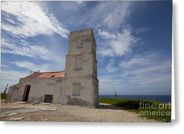 Dutch Lighthouse Greeting Cards - Lighthouse at Bonaire Greeting Card by Vanessa Devolder