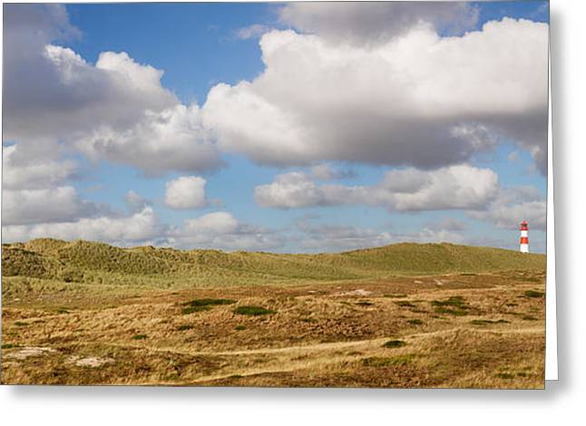 Sylt Greeting Cards - Lighthouse At East Ellenbogen, Sylt Greeting Card by Panoramic Images