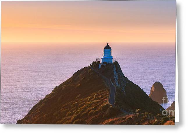 Pacific Ocean Prints Greeting Cards - Lighthouse at Nugget Point Greeting Card by Henk Meijer Photography