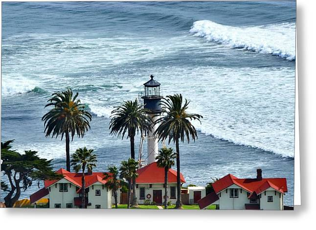 Carter House Greeting Cards - Lighthouse at Point Loma Greeting Card by See My  Photos