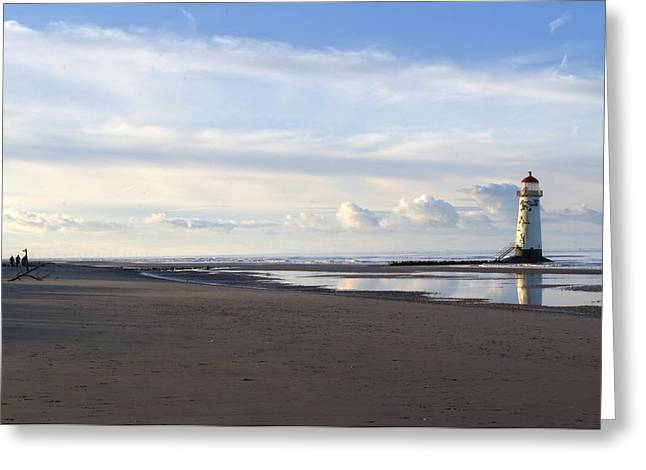 Lighthouse At Talacre Greeting Card by Spikey Mouse Photography